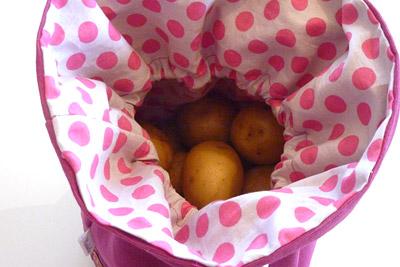 Kartoffelsack offen