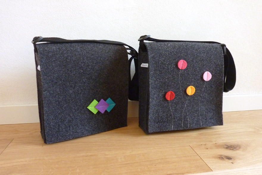 Smart&Bag Wollfilz Graphit