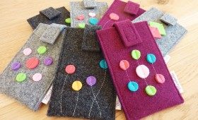 Smartphone-Schutzhülle Wollfilz