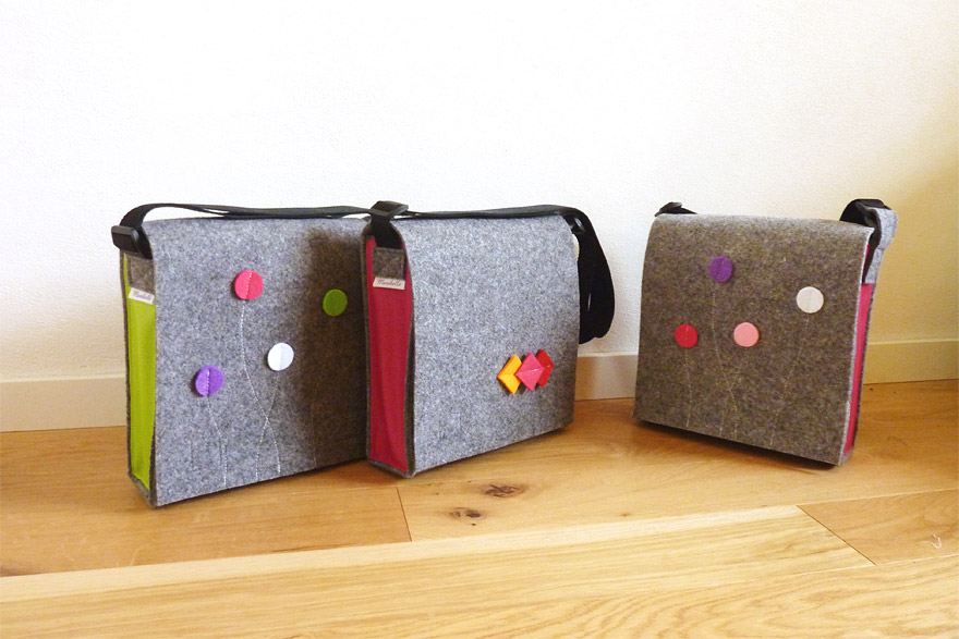 Smart&Bag Wollfilz Color Silbergrau-Meliert