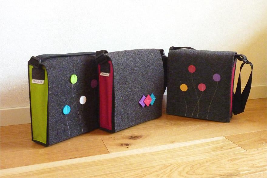 Smart&Bag Wollfilz Color Graphit